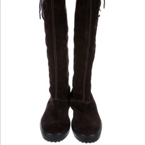 Tods knee high suede boots